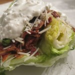 Iceberg Wedge Salad w/ Homemade Blue Cheese Dressing (101: How to core lettuce)