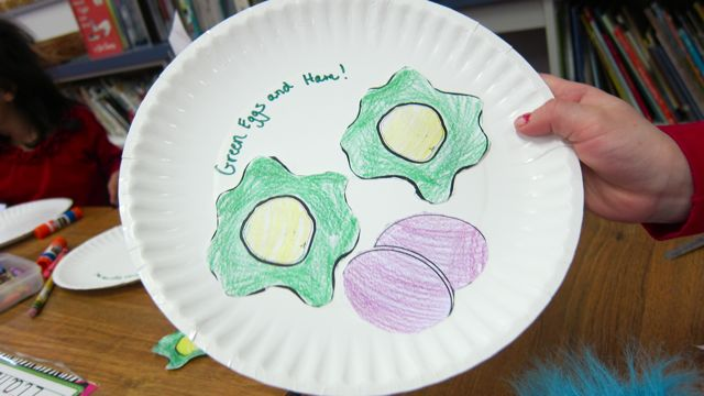 and here is the kindergarten version of green eggs and ham