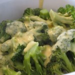 Steamed Broccoli with Cheddar Cheese Sauce {gluten-free}