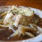 "A ""Bistro Lunch"" at Home- French Onion Soup and Club Roll-Ups"