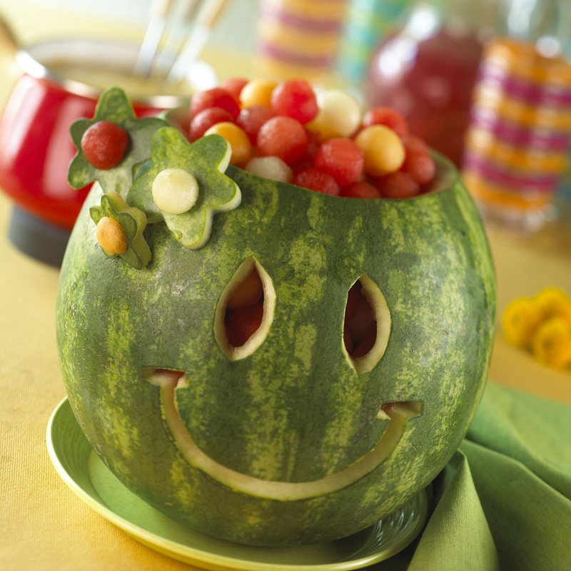 Watermelon carvings comfy in the kitchen