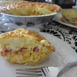 Easy Ham and Cheesy Quiche