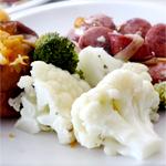 Easy steamed broccoli cauliflower