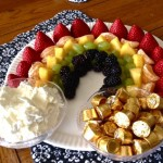 Fruit Rainbow with Fruit Dip