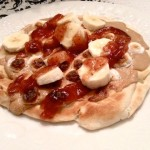 Peanut Butter, Jelly, Banana & Toasted Marshmallow Pizza