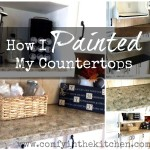 How I Painted My Countertops!