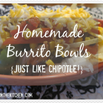Homemade Burrito Bowls {Just like Chipotle!}