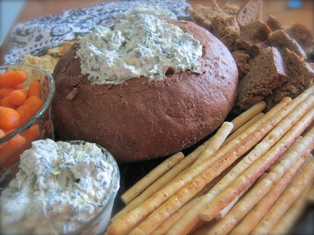 This easy, creamy spinach dip is always a hit at family gatherings and potlucks. It is so easy to make, with just a handful of ingredients. #WomenLivingWell #spinachdip #easyrecipe