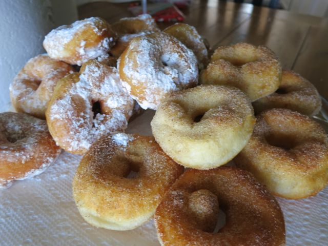 This is the easiest donut recipe ever. With just two simple ingredients, you can make these yummy donuts - a perfect comfort food - for your family. #WomenLivingWell #donuts #easyrecipes #comfortfood