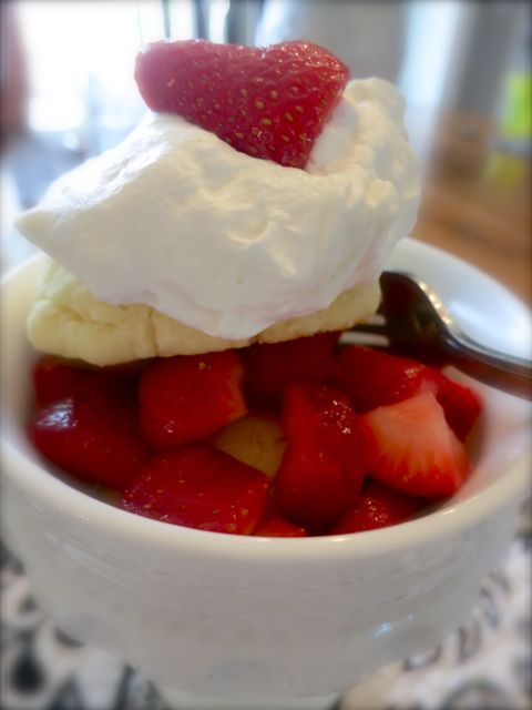 This strawberry shortcake is a light and delicious summer-time dessert. Plus, in this tutorial, I offer a gluten-free option.  #WomenLivingWell #strawberry #shortcake #glutenfree
