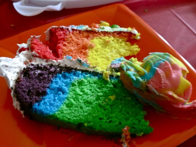 Making a rainbow birthday cake doesn't have to be complicated. Here's my step-by-step tutorial on how to successfully make a rainbow birthday cake. #womenlivingwell #rainbow #birthday #cake